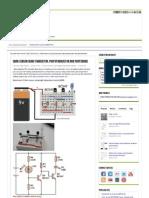 Dark Sensor Using Transistor, Phototransistor and Photodiode