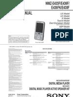 NWZ-E436F Service manual