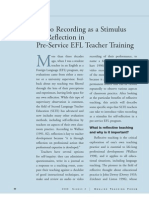 Video Recording as a Stimulus for Reflection in Pre-Service EFL Teacher Training