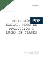 CUADERNO 2. Formacion Social, Modo de Produccion y Lucha de Clases