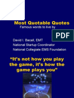 Bacall - Most Quotable Quotes