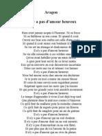 Aragon - Poesies