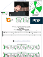 CAGED4BASS C major-minor arpeggio box shapes
