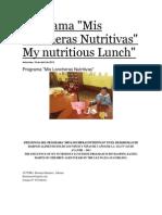 Programa Mis Loncheras Nutritivas