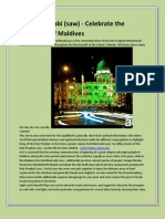 Eid-Milad Nnabi - Celebrate the Festivities of Maldives
