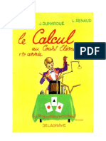 Mathématiques Classiques CE1 Le calcul au Cours Elémentaire  Blin-Renaud-Dumarqué