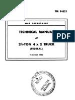 Tm 9-821, 2,5 Ton Truck Federal, 1943