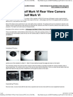 Installing a Golf Mark VI Rear View Camera (RVC) Into a Golf Mark VI _ My-gti