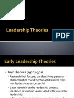 Theories of Leadership Lec 2
