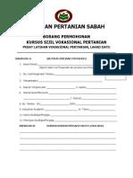 Borang Permohonan Avtc Lahad Datu