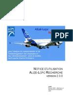Notice Alize Recherche v231