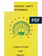 Democratic Party (Myanmar) Constitution