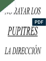 No Rayar Los Pupitres