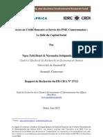 [TA-10-090]- Rapport final- Accès au crédit bancaire et survie