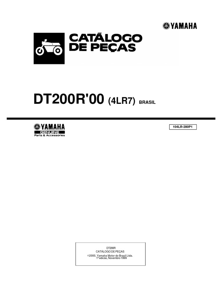 Manual Despiece Yamaha DT200R