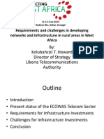 Requirements and Challenges in Developing Networks and Infrastructure in Rural Areas in West Africa