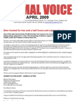 Animal Voice Newsletter - April 2009