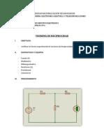 Teorema de Reciprocidad (Informe Terminado)