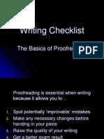 Writing Checklist FERRARELLI M ppt
