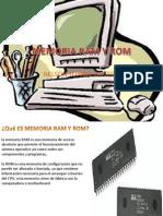 Memoria Ram y Rom