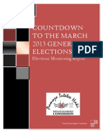 Countdown to the March 2013 General Elections-Interim Election Report