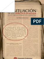 Informe Anual Argentina DDHH 2012 Completo