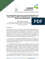 Vinculacion Recursos Naturales y Desarrollo en Africa Subsahariana J. GARCIA-LUENGOS