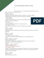 Türkçe'ye Çevrilmiş İngilizce Gramer Notları
