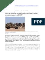 La Crise Libyenne Accroit l Insecurite Dans Le Sahel Selon Un Rapport de l Onu