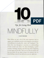 10 Tips for Living Mindfully