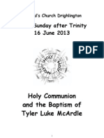 Third Sunday After Trinity and Baptism of Tyler Luke McArdle