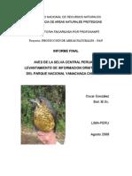 Aves de La Selva Central Peruana Yanachaga