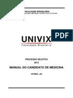 Manual Do Candidato_Proc. Seletivo 2013_1_Medicina (1)