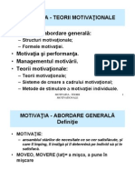 Motivatia in Structura Organizatorica a Unei Intreprinderi