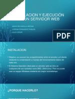 Instalacion y ejecución de un servidor web