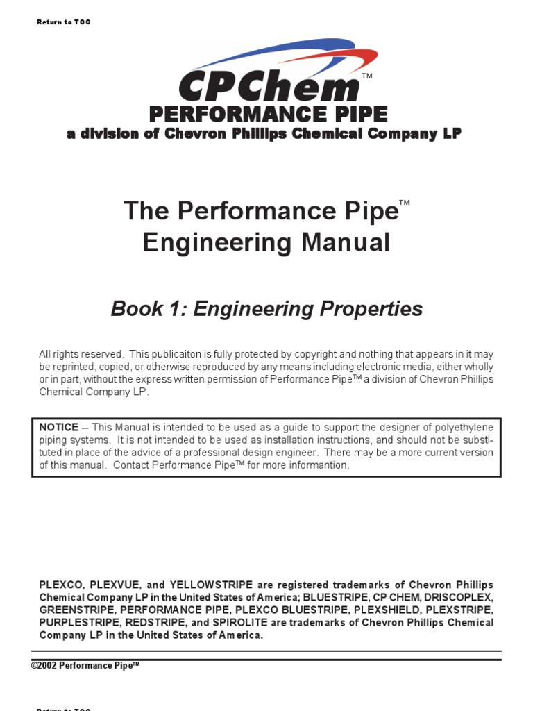 the performance pipe engineering manual polyethylene pipe fluid rh scribd com