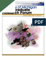 University of Michigan Undergraduate Research Forum Issue 3 / Winter 2006