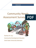 community needs assessment Survey Guide