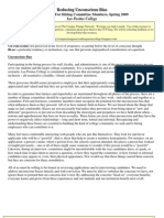 Reducing Unconscious Bias Resource for Hiring Committee Members-Sp09