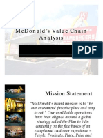 McDonalds Value Chain Analysis