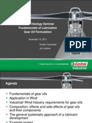 Fundamentals of Lubrication - Gear Oil Formulation   Wear