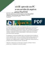 Sucata Hi-tech III- Aproveite Seu PC Antigo Como Um Servidor de Arquivos Com o Poderoso FreeNAS