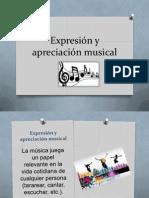 expresin y apreciacin musical