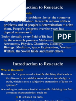 RM1. Introduction to Research 2012