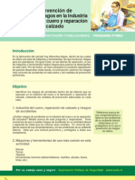 Prevencion de Riesgos en La Industria Del Cuero y Reparacion Del Calzado