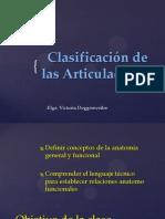 8.- Clasificacion de Las Articulaciones