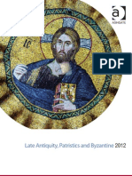 Late Antiquity, Patristics and Byzantine 2012