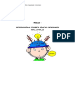 Modulo 1- Introduccion Al Concepto de Sobredotacion Intelectual