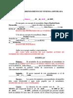 Contrato de Alquiler de Vivienda Habitual en Formato Word