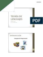 01-02 Teoria de Lenguajes - Introduccion